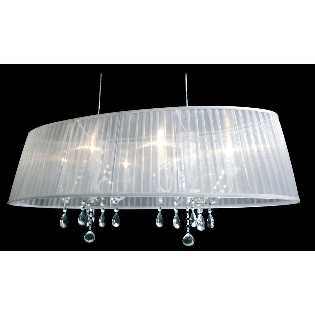 Preisvergleich eu organza lampenschirm wei for Pendelleuchte oval stoff